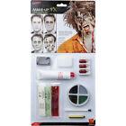 Zombie Face Paint Make up Kit Deluxe Blood Latex Flesh Halloween Smiffys 39094