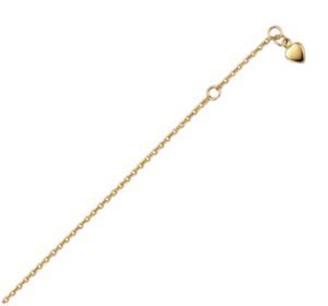 Fine Anklets Fine Jewelry Confident Fusskette Anker Rund Mit Herz 333 Gold Massiv 1,6g 23 25 Cm 1,5mm Federring Drip-Dry