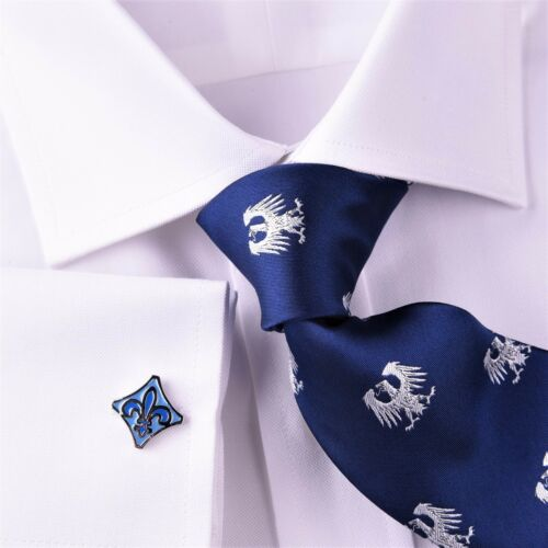 Best Men/'s White Dress Shirt Formal Royal Oxford Classic Professional Business