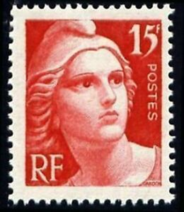 FRANCE-STAMP-N-832-034-CENTENAIRE-DU-TIMBRE-MARIANNE-15F-ROUGE-034-NEUF-xx-TTB