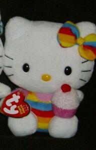 Hello Kitty Ty Beanie Baby KISS Catman, Hawaiin, Cupcake and Easter  New