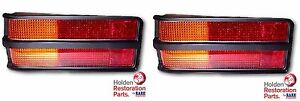 HOLDEN-LH-LX-TORANA-BLACK-REAR-TAIL-LIGHT-LENSES-amp-GASKETS-PAIR-RARE-SPARES-QLD