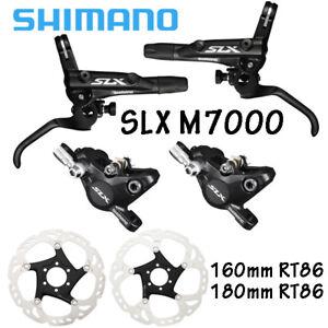 Shimano-SLX-M7000-Brake-Set-Front-Rear-RT86-160mm-180mm-Rotor-MTB