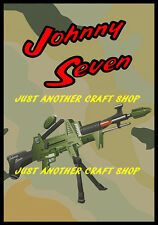 Johnny Seven OMA One Man Army Poster Advert Leaflet Sign A4 Size from 1964