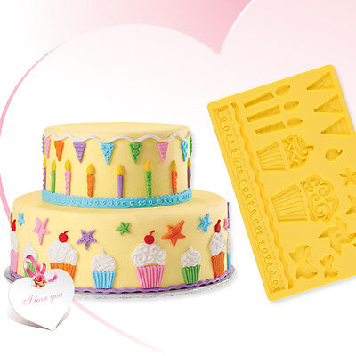 Silicone Fondant Cake Embossing Mould Mold Gum Lace Paste Decorating Baking Tool