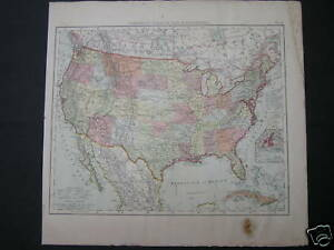 Antique-map-North-America-USA-United-States-1880