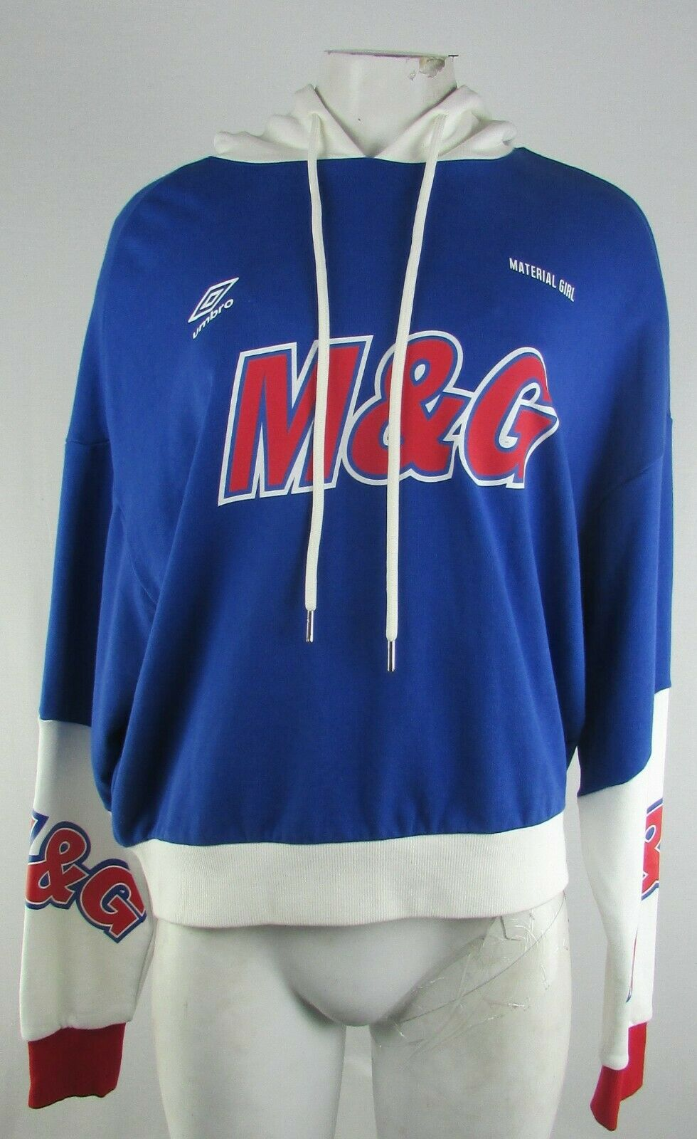Umbro Material Girl Women's Blue Hooded Sweatshirt