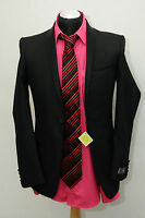 Marks And Spencer Man Black Slim Fit Dinner/dress .blazer Uk Size 36r