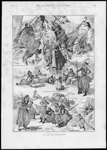 1897-Antique-Print-MILITARY-Eastern-Crisis-Cretan-Insurgents-Outpost-191