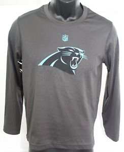 980875aa Carolina Panthers NFL Apparel Gray Polyester LongSleeve T Shirt Size ...