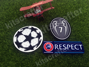 2017-2018-Champions-League-Soccer-Sleeve-Patch-Set-7-Trophy-AC-Milan