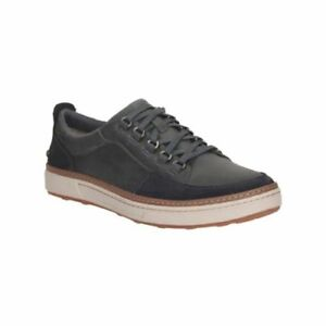 Clarks-Mens-LORSEN-VIBE-Navy-Nubuck-Leather-Casual-Shoes-Sneakers-Size-10-5-NEW