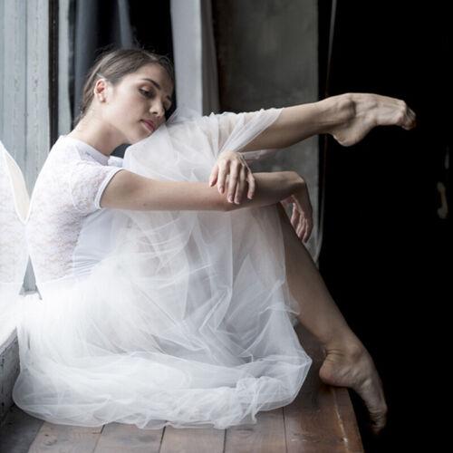 Romantic Long Ballet Tutu Skirt Professional Ballet Costume Long Chiffon Skirt