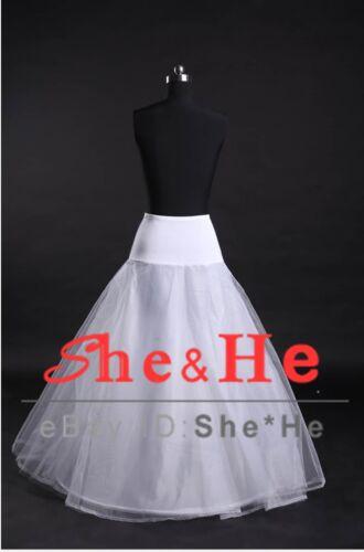 Black//White 1 Hoop Wedding Dress Ball Gown Crinoline Petticoats Prom Bridal Slip
