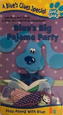 75 Chrome Shop >> Blues Clues-Blues Big Pajama Party(VHS 1999)TESTED-RARE VINTAGE-SHIPS N 24 HOURS 97368359635 | eBay