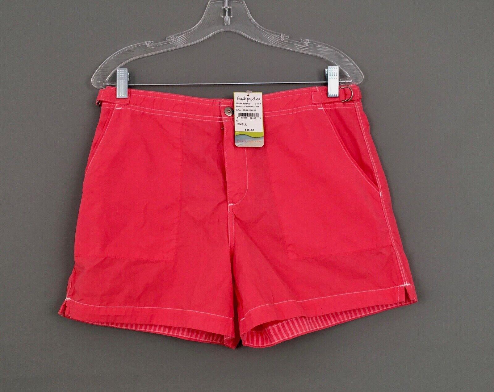 NWT  46 FRESH PRODUCE Women's Sz.Small Grapefruit Pink Boardwalk Shorts