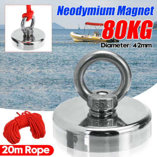 80 kg 42mm Super Strong Neodymium Magnet Fishing Treasure Metal Fishing Hunter