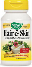 Hair & Skin with MSM and Glucosamine - 100 Capsules - Nature's Way