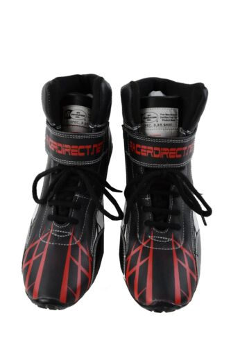 BLACK RED WHITE GRAPHICS KIDS RACE SHOES SIZE 1 ANKLE TOP SFI 3.3//5 RACING