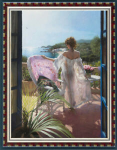 """Original Oil Painting art female Impressionism young girl on canvas 30""""x40"""""""