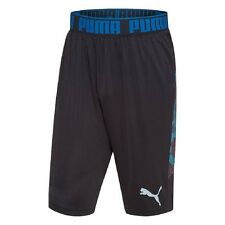 Puma Men's L Mixed State Shorts II ATHLETIC Polyester BLACK / BLUE Long NWT $40