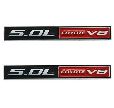 3D Trim Fender Hook Trunk Badge Decals Stickers Compatible for Mustang F150 2pcs 5.0L Coyote V8 Emblems Matte Black