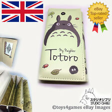 UK NEW Studio Ghibli My Neighbour Totoro Long Wallet Coins Purse ID Anime Green
