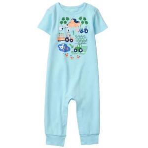 82726e3404c NWT Gymboree Little Farm Baby Boys Short Sleeve Blue One PIece ...