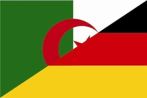 Aufkleber Algerien-Deutschland Flagge Fahne 12 x 8 cm Autoaufkleber Sticker