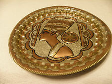 Copper on brass Egyptian plate