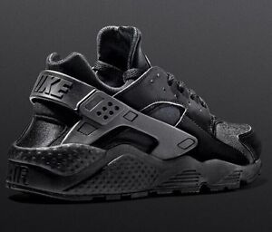 Image is loading Nike-Air-Huarache-039-Triple-Black-039-GENUINE- 1fa1dd7b5e46