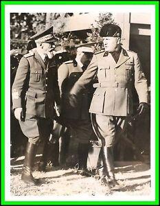 Benito Mussolini & General Emilio De Bono-anunciando Etiopía la entrega de  1936   eBay