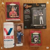 Bill Elliott, Dale Earnhardt Or Dale Earnhardt Jr Ornaments, Figures, Bobblehead
