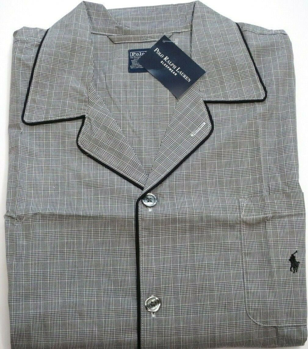 RALPH LAUREN POLO Button Down Sleep Wear Pajama Shirt Mens Small Medium NEW