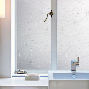 Details About 100 45cm Static Frosted Bathroom Window Door Gl Privacy Film Sticker 1 2x Fhg