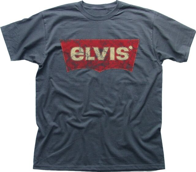 ELVIS Presley King of Rock charcoal printed t-shirt FN9409