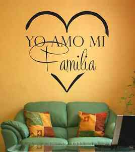 Yo Amo Mi Familia Spanish Vinyl Wall Decal Home Quote