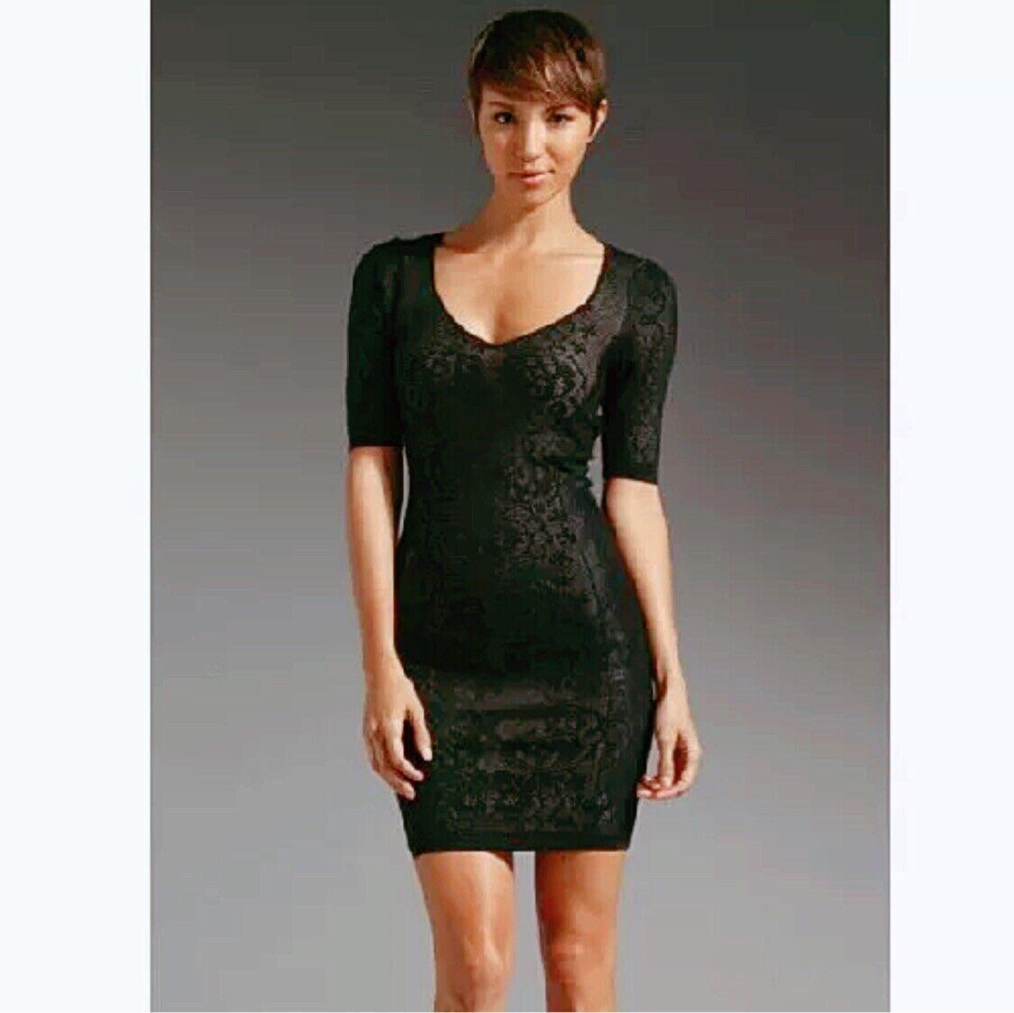 NEW Z Spoke Zac Posen schwarz Lace Stretch Sweater Sheath Dress SZ M 6 8