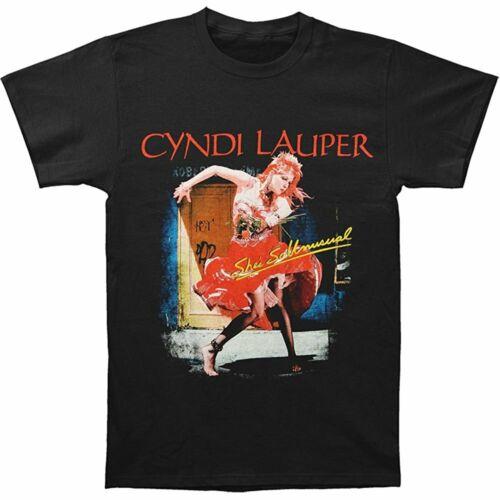 JJlinge Cyndi Lauper Men/'s 2013 She/'s So Unusual Tour Dated T-shirt Black V553
