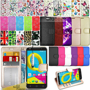 on sale 50d2f 9d87a Details about For Alcatel U5 4047D 5044Y U5 HD Phone Case Wallet Leather  Cover Flip Book Stylu