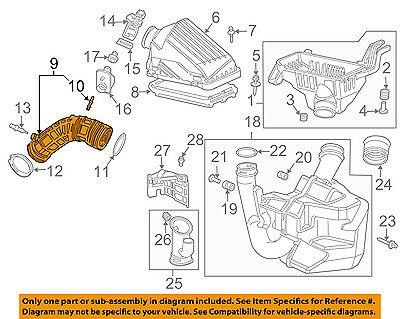 HONDA OEM 03-07 Accord Air Cleaner Intake-Duct Hose Tube 17228RADL60 | eBayeBay
