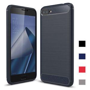 Pour-Asus-Zenfone-4-Max-ZC520KL-5-2-039-039-ZC554KL-5-5-039-039-Fibre-de-Carbone-Etui-Souple