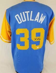 online store ffc7b 49d01 Details about Kevin Kiermaier Signed Tampa Bay Rays (Players  Weekend)'Outlaw' Jersey (JSA COA)