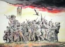 """Original Alan Reed Acuarela """"la respuesta"""" Primera Guerra Mundial Wwi Pintura"""