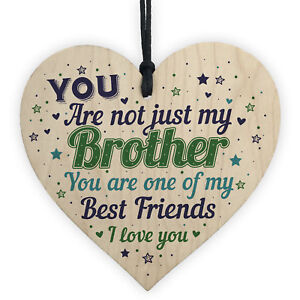 Christmas Gifts For Brother.Details About Novelty Brother Friendship Christmas Gifts Wooden Heart Plaque Gift For Brother