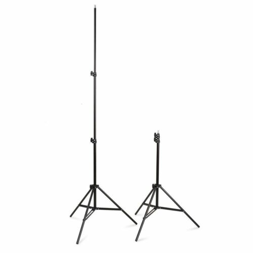 2x 225W Photography Studio Umbrella Continuous Lighting Stand Bulb Kit White