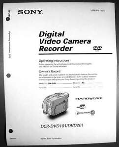 sony dcr dvd101 dcr dvd201 operation guide manual ebay rh ebay com sony handycam dcr-dvd101e software download Sony Handycam DCR 2004
