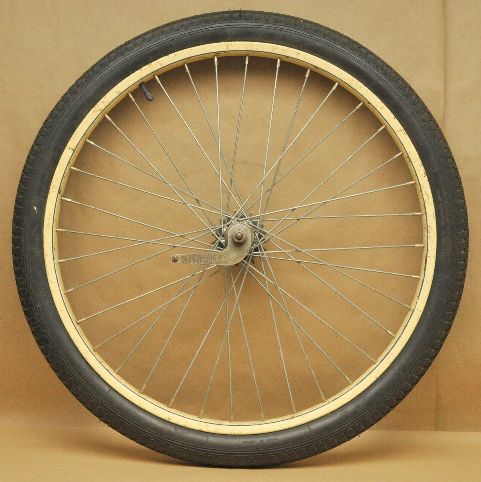 Vtg Bicycle 26 x 2.125 Wheel 36H Rim New Departure Model D Coaster Brake Hub