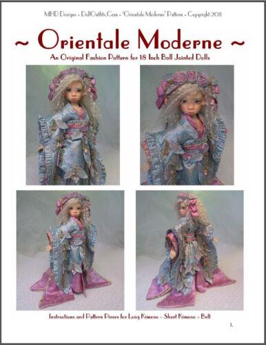 "/""Orientale Moderne/"" 18 inch Ball Jointed Doll BJD Kaye Wiggs Fashion Pattern"