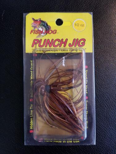 Fish Hog Punch Jig 1//2oz Brown//Orange *